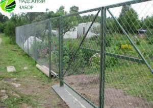 забор из сетки-рабицы в уфе